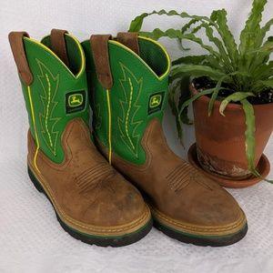 John Deere® Youth Johnny Popper Western Boots Size